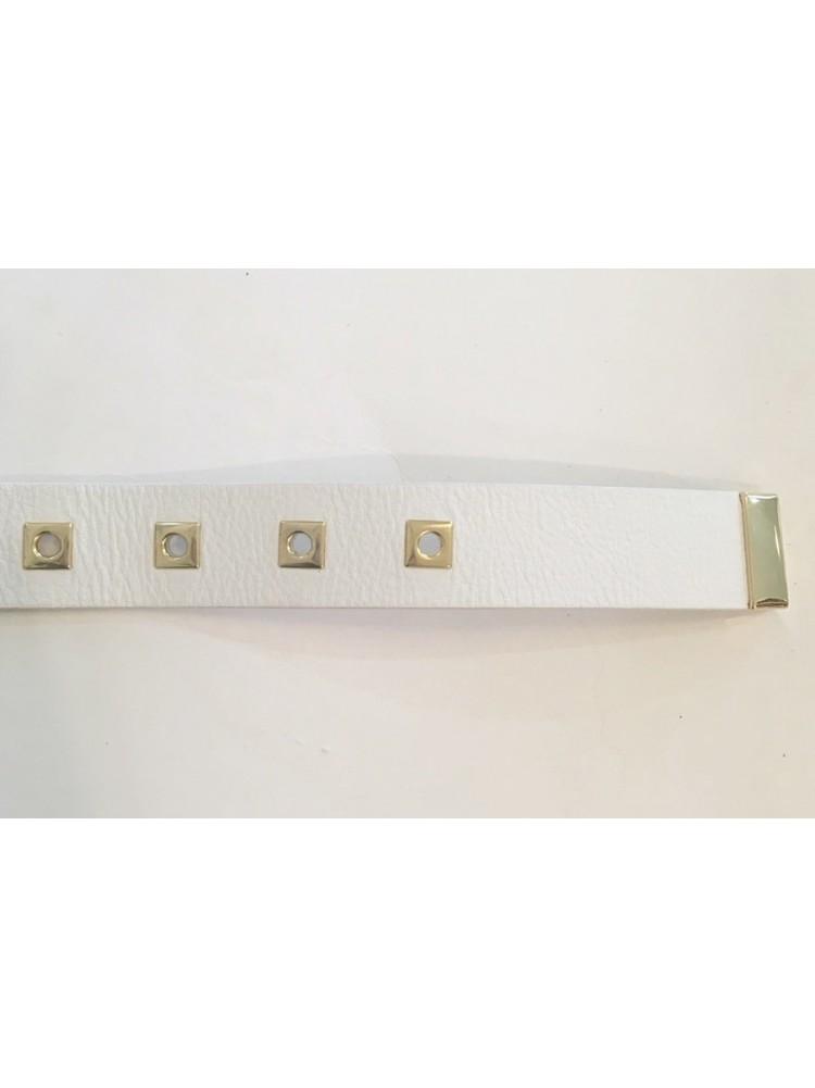Ремень Deddi от LUISA SPAGNOLI с золотой пряжкой и квадратными отверстиями