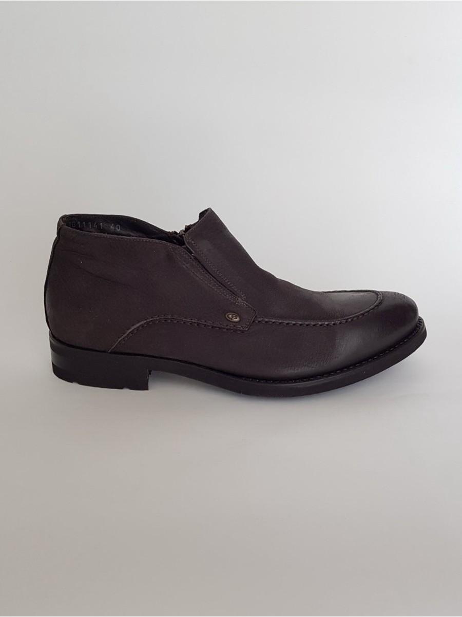 Зимние ботинки DINO BIGIONI из натуральной кожи и меха, на замке, 11141.12