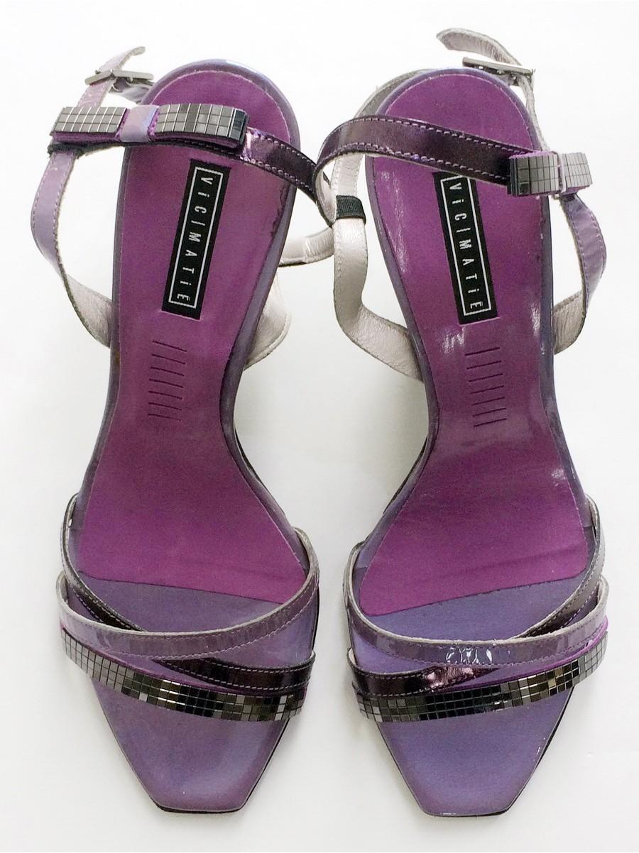 Босоножки  Andrea MORELLI кожа 7460.08-фиолетовый