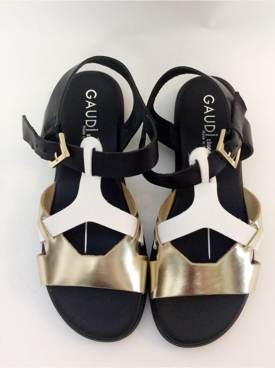 Стильные сандалии Gaudi 60511-черн.золото