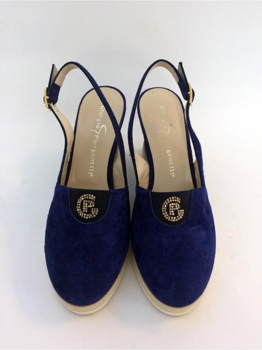 Туфли замшевые на платформе GIORGIO Piergentili 262-электрик