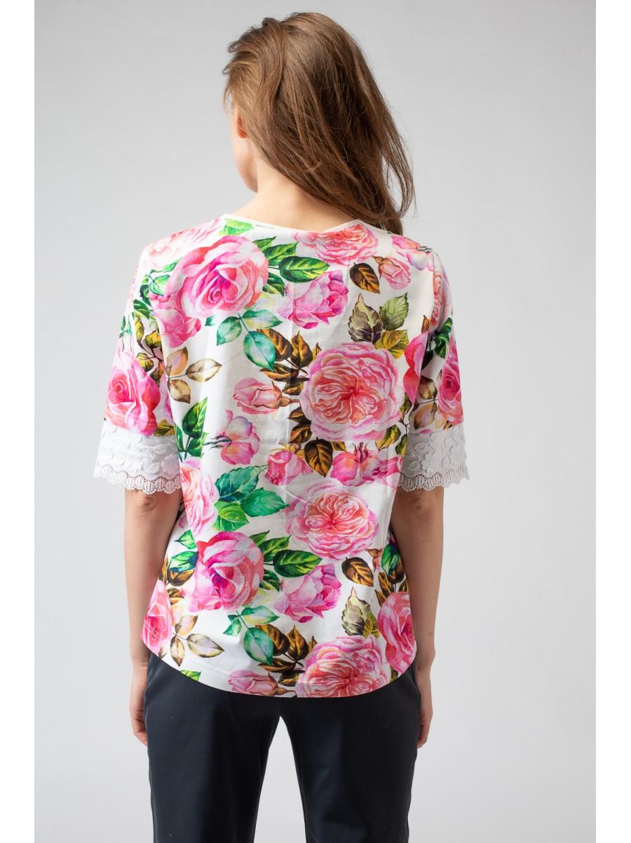 Блузка FIORE, рисунок розы