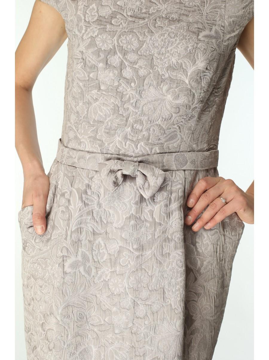 Платье GABRIO вечернее платье из жаккарда цвета пепельной розы
